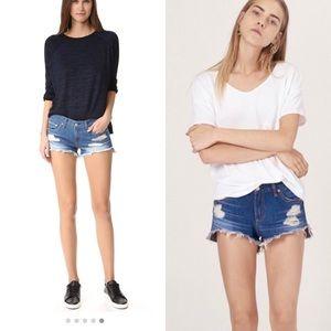 Rag & Bone Freeport cut off denim shorts size 26